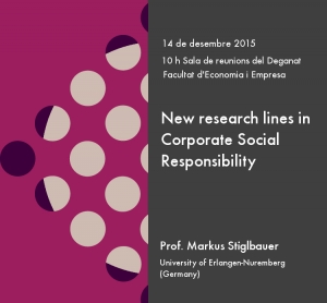"Seminar ""New research lines in Corporate Social Responsibility"""